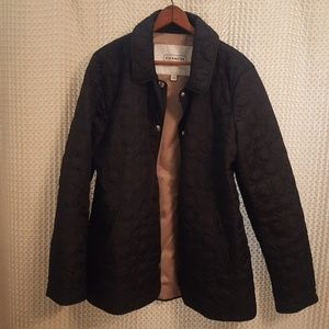 COACH Quilted Logo Jacket/Coat. Women's L